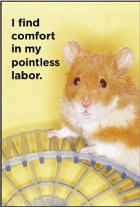 I Find Comfort In My Pointless Labor.  funny fridge magnet (ep)
